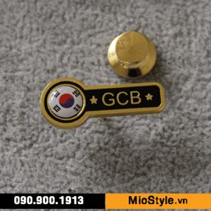 Cơ sở sản xuất huy hiệu ghim cài áo vest đặt làm theo yêu cầu tphcm pin cài áo vest cao cấp financial,org hàn quốc korea