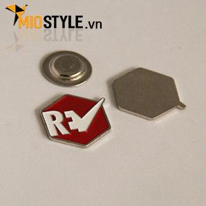 Cơ sở sản xuất huy hiệu ghim cài áo vest đặt làm theo yêu cầu tphcm, huy hiệu đeo bằng nam châm RV