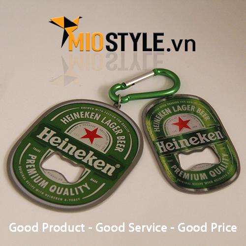 11+ mẫu móc khoá khui bia in logo công ty đặt làm ở cơ sở sản xuất hcm bia heineken