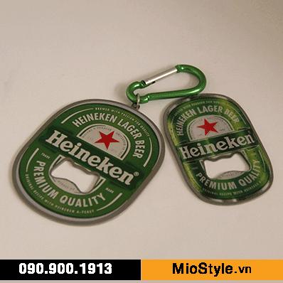 chuyên sản xuất nhận đặt làm móc khoá đồ khui bia cao cấp theo yêu cầu in logo heineken