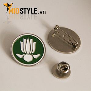 cơ sở sản xuất huy hiệu đồng kim loại pin cài áo đẹp ở tp.hcm hoa sen gia đình phật tử phật giáo thế giới