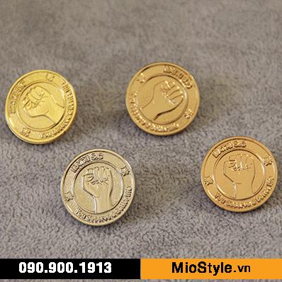 cơ sở sản xuất huy hiệu đồng kim loại pin cài áo đẹp ở tp.hcm mạ vàng bạc đồng vàng hồng rose gold matte