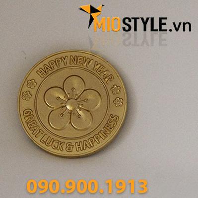 quà tặng khách hàng vip đối tác doanh nghiệp sự kiện cuối năm tết 2019 đồng tiền vàng lĩ xì may mắn