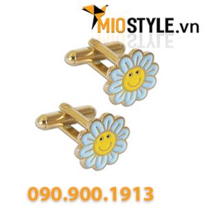sản xuất nhận đặt làm khuy cài áo vest cufflink cuf-link cao cấp theo yêu cầu tphcm hoạt hình bông hoa