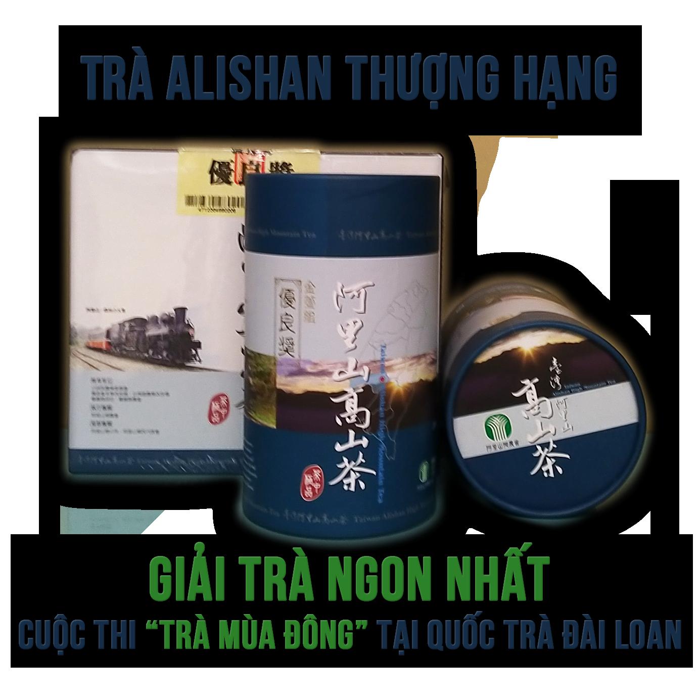 Quà Biếu Tặng Tết 2019: Hộp trà biếu Alishan thượng hạng, Ô Long Đài Loan cao cấp