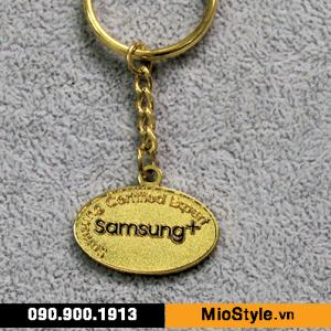 cơ sở đặt làm móc khoá kim loại theo yêu cầu cao cấp tphcm - in móc khoá logo công ty samsung