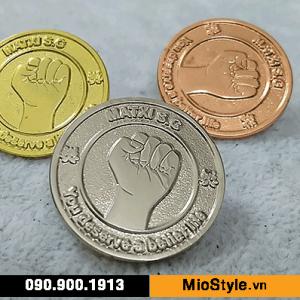 Cơ sở làm Huy Hiệu Kim Loại, Pin Cài Áo, sản xuất logo công ty tp.hcm - matxi sg