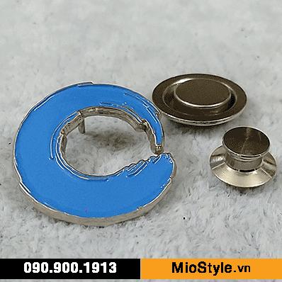 Cơ sở làm Huy Hiệu Kim Loại, Pin Cài Áo, sản xuất logo công ty tp.hcm - blue circle