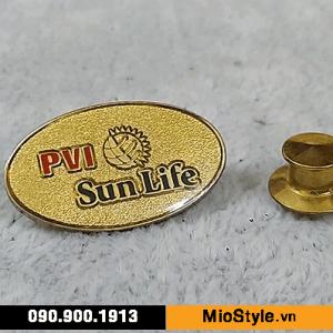 Cơ sở làm Huy Hiệu Kim Loại, Pin Cài Áo, sản xuất logo công ty tp.hcm - bảo hiểm nhân thọ pvi sunlife