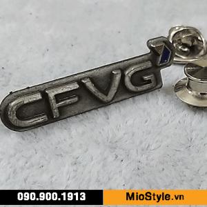 sản xuất Huy Hiệu cài áo vest, làm Pin Cài Áo cao cấp, đặt làm logo cài áo - trường đại học cfvg